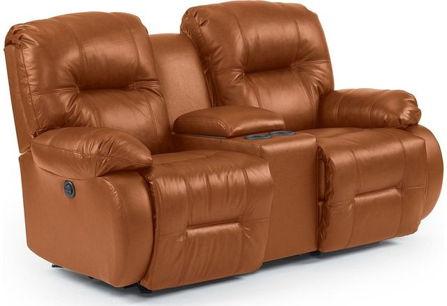 Best Home Furnishings® Brinley Leather Space Saver® Console Loveseat-L700CC4
