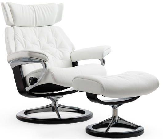 Stressless® by Ekornes® Skyline Large Signature Base Chair and Ottoman-1304315