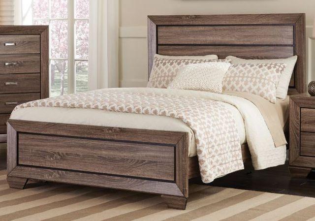 Coaster® Kauffman Washed Taupe Easter King Bed-204191KE