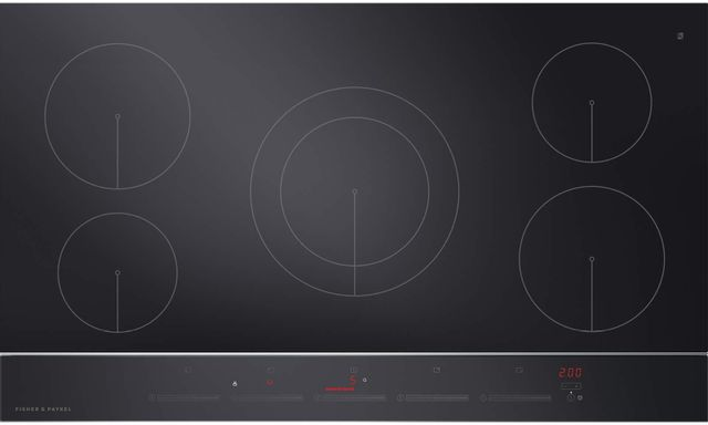 """Fisher & Paykel Series 9 36"""" Black Glass Induction Cooktop-CI365DTB2 N"""