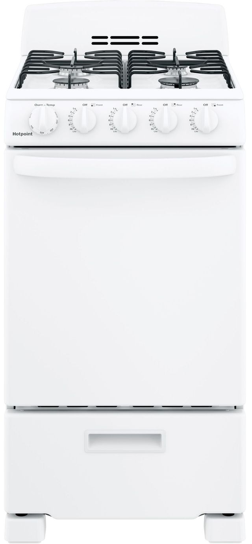 "Hotpoint® 20"" White Free Standing Gas Range-RGAS200DMWW"