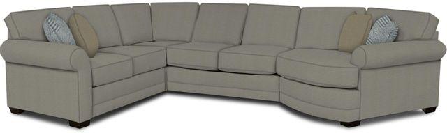 England Furniture Co. Brantley 4 Piece Culpepper Cement/Alvarado Mineral/El Toro Barnwood Sectional-5630-28-22-43-95+8612+8755+8601
