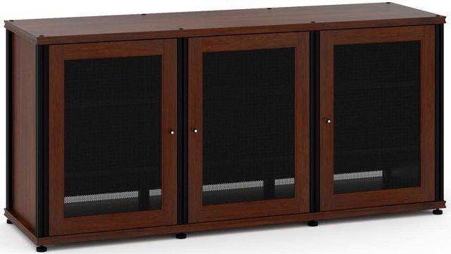 Salamander Designs® Synergy Model 337 AV Cabinet-Dark Walnut/Black-SB337W/B
