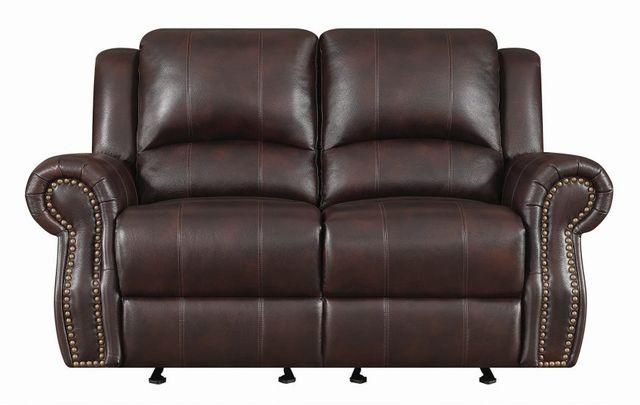 Coaster® Sir Rawlinson Dark Brown Reclining Loveseat-650162