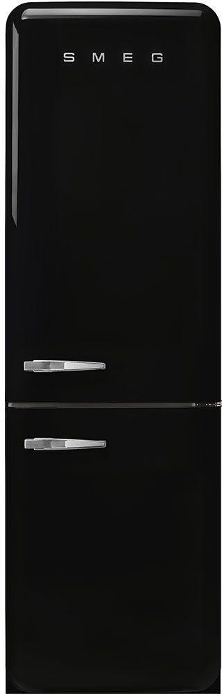 Smeg 50's Retro Style Aesthetic 11.69 Cu. Ft. Black Bottom Freezer Refrigerator-FAB32URBL3