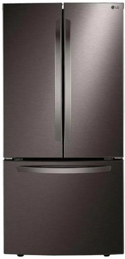 Réfrigérateur à portes françaises de 33 po LG® de 25,1 pi³ - Acier inoxydable noir résistant aux traces de doigts-LRFCS2503D