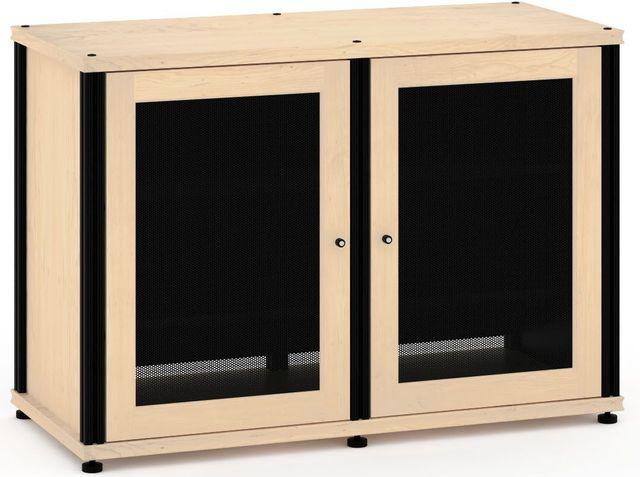 Salamander Designs® Synergy Model 323 AV Cabinet-Natural Maple/Black-SB323M/B