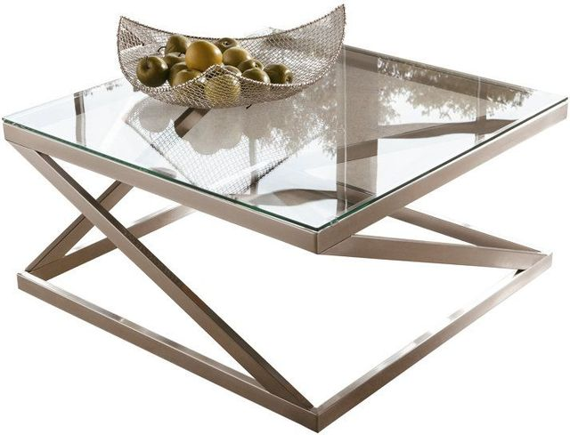 Signature Design by Ashley® Coylin Brushed Nickel Finish Square Cocktail Table-T136-8