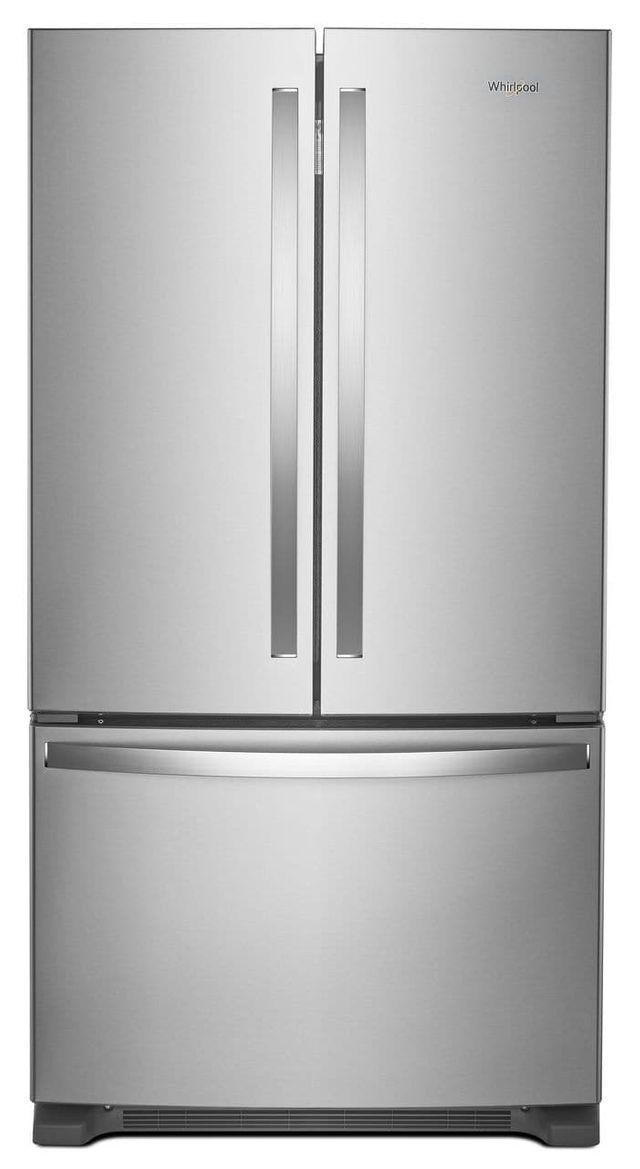 Whirlpool® 20 Cu. Ft. Wide Counter Depth French Door Refrigerator-Fingerprint Resistant Stainless Steel-WRF540CWHZ