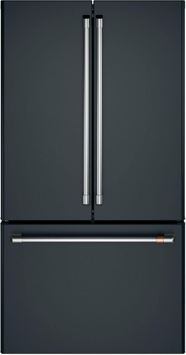 Café™ 23.1 Cu. Ft. Matte Black Counter Depth French Door Refrigerator-CWE23SP3MD1