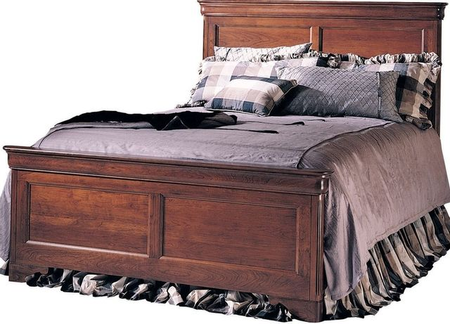 Durham Furniture Chateau Fontaine Candlelight Cherry King Panel Bed-975-144