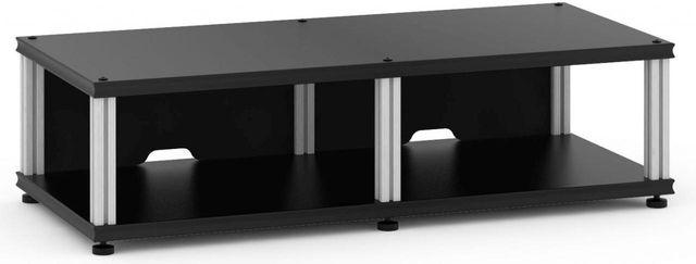 Salamander Designs® Synergy Twin 10 AV Cabinet-Black/Aluminum-SN10B/A