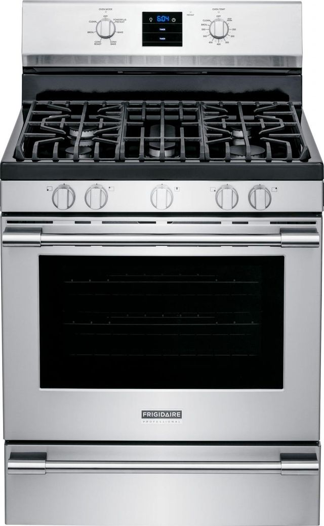 """Frigidaire Professional® 30"""" Stainless Steel Free Standing Gas Range-FPGF3077QF"""