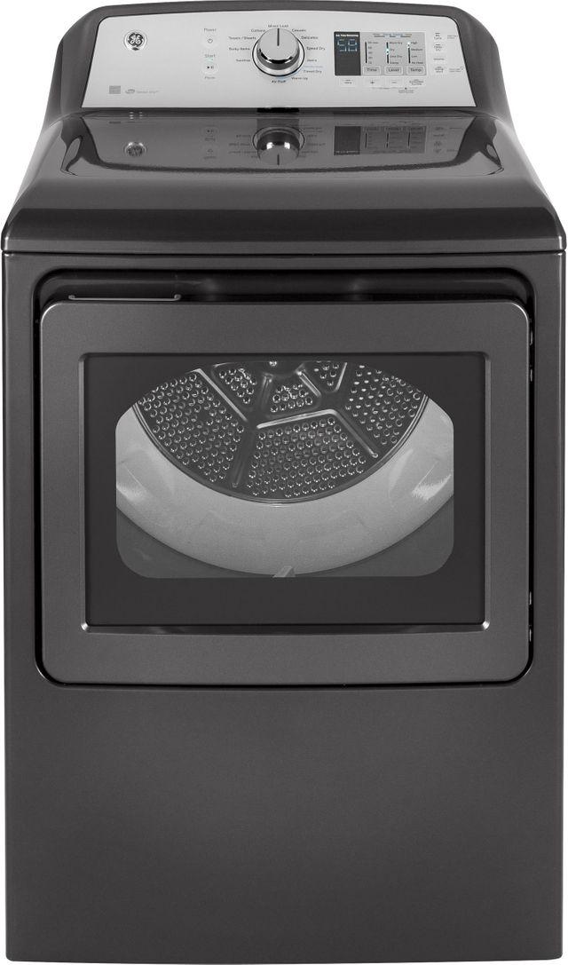 GE® Front Load Electric Dryer-Diamond Gray-GTD65EBPLDG