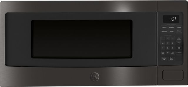 GE Profile™ 1.1 Cu. Ft. Black Stainless Steel Countertop Microwave Oven-PEM31BMTS