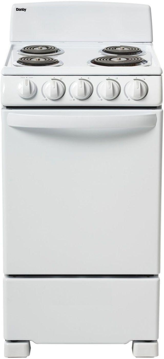 """Danby® 20"""" White Free Standing Electric Range-DER202W"""