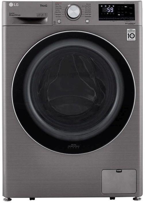LG 2.4 Cu. Ft. Graphite Steel Front Load Washer -WM1455HVA