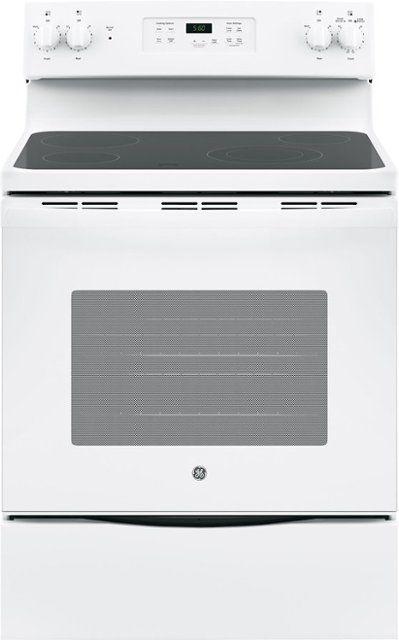 "GE® 30"" Free Standing Electric Range-White-JB655DKWW"