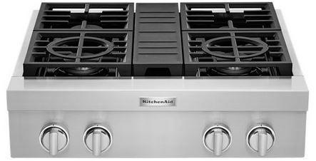 "KitchenAid® 30"" Stainless Steel Gas Rangetop-KCGC500JSS"