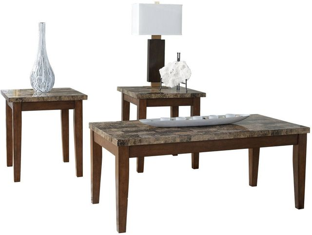 Signature Design by Ashley® Theo Warm Brown Occasional Table Set (3/CN)-T158-13