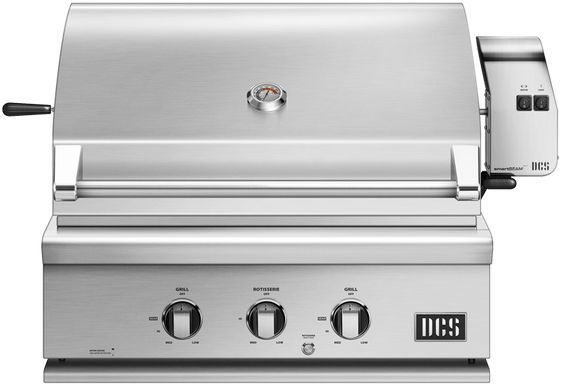 """DCS Series 7 30"""" Brushed Stainless Steel Traditional Built In Grill-BH1-30R-L"""
