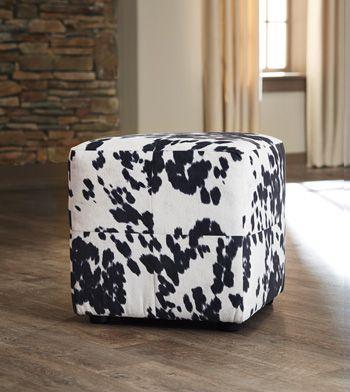 Signature Design by Ashley® Bremer Black-White Accent Ottoman-2210113