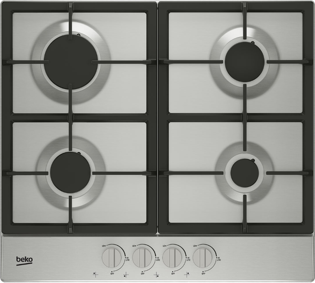 """Beko 24"""" Stainless Steel Built In Gas Cooktop-BCTG24400SS"""