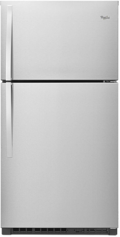 Whirlpool® 21.3 Cu. Ft. Top Freezer Refrigerator-Monochromatic Stainless Steel-WRT541SZDM