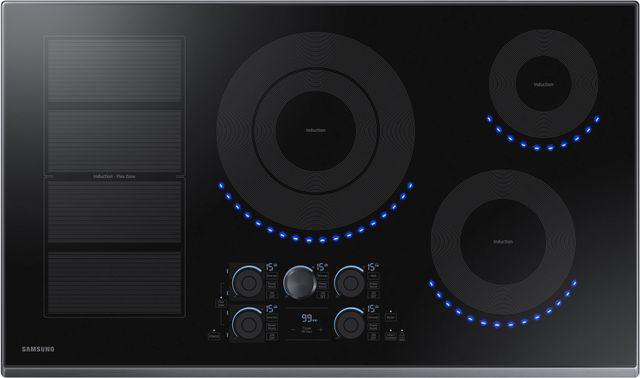 """Samsung 30"""" Induction Cooktop-Fingerprint Resistant Black Stainless Steel-NZ36K7880UG"""
