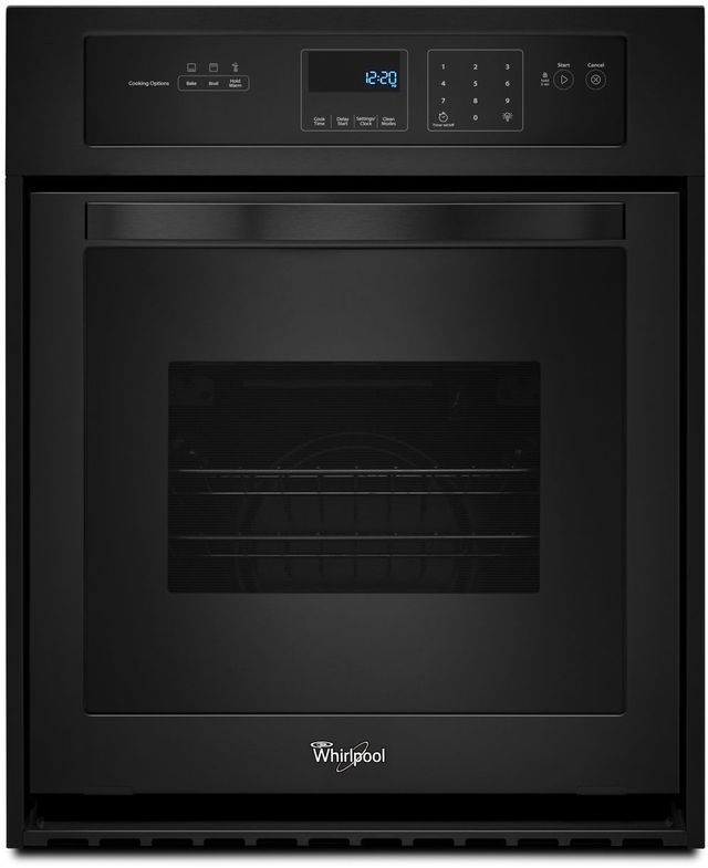 """Whirlpool® 24"""" Electric Built In Oven-Black-WOS51ES4EB"""