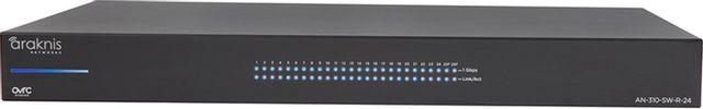 SnapAV Araknis Networks® 310 Series Black 24+2 Rear Ports L2 Managed Gigabit Switch-AN-310-SW-R-24