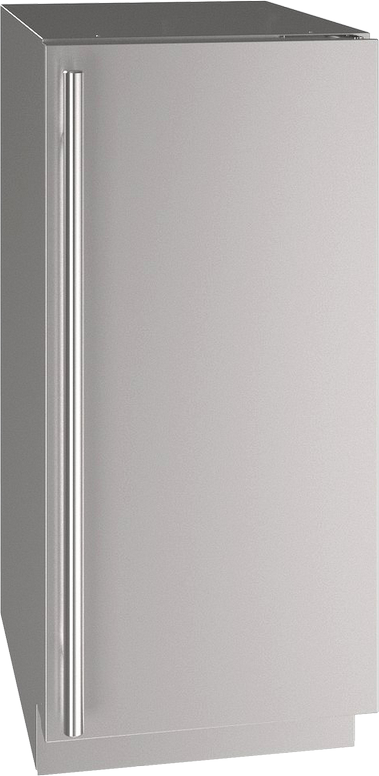 """U-Line® 15"""" Stainless Steel Compact Refrigerator-UHRE515-SS01A"""