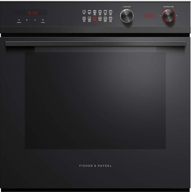 """Fisher & Paykel Series 9 24"""" Black Electric Single Oven Built In-OB24SCD11PB1"""