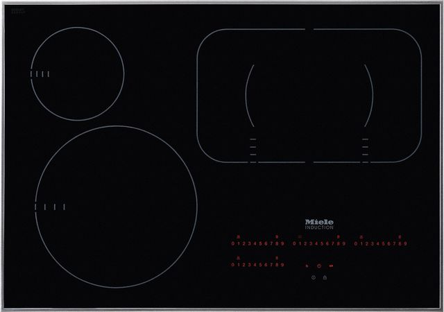 """Miele 30"""" Black Induction Cooktop-KM6360-12-6312"""