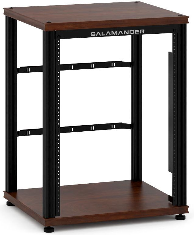 Salamander Designs® Synergy Single 30 Rack Mount-Dark Walnut/Black-SU30RMW/B