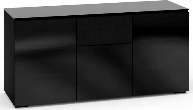 Salamander Designs® Oslo 336 AV Cabinet-Black Glass-C/OS336/BG