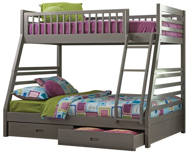 Coaster® Ashton Grey Twin-Over-Full Youth Bunk Bed-460182