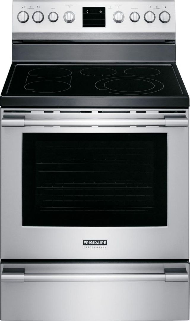 """Frigidaire Professional® 30"""" Stainless Steel Freestanding Electric Range-FPEF3077QF"""