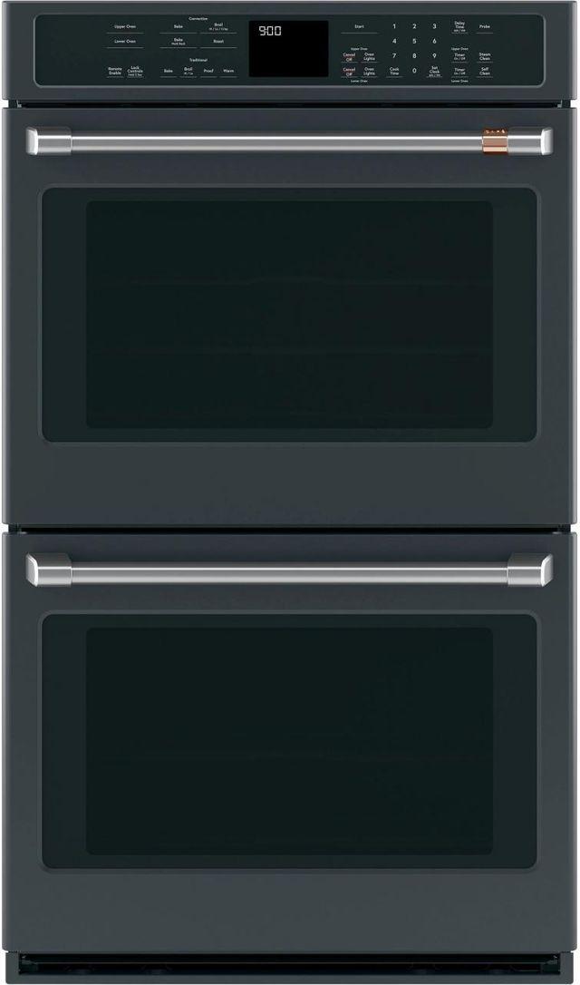 """Café™ 30"""" Matte Black Electric Built In Double Oven-CTD90DP3MD1"""