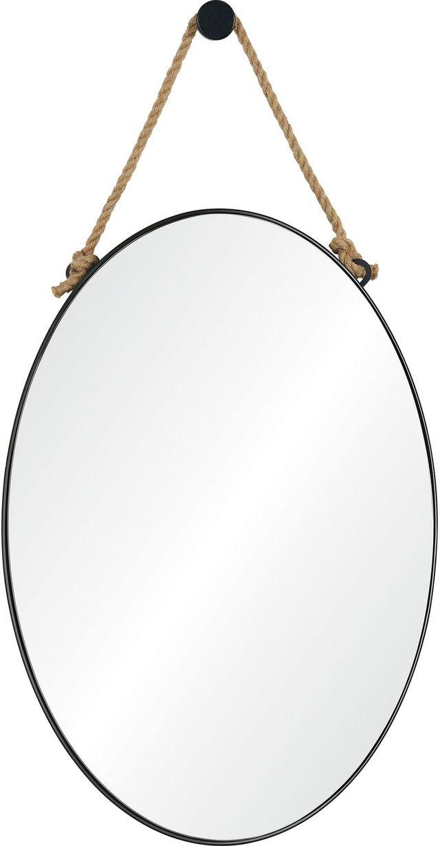 Miroir mural Parbuckle, poudre noire enrobée, Renwil®-MT2365