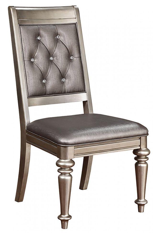 Coaster® Danette Metallic Platinum Side Chair-106472