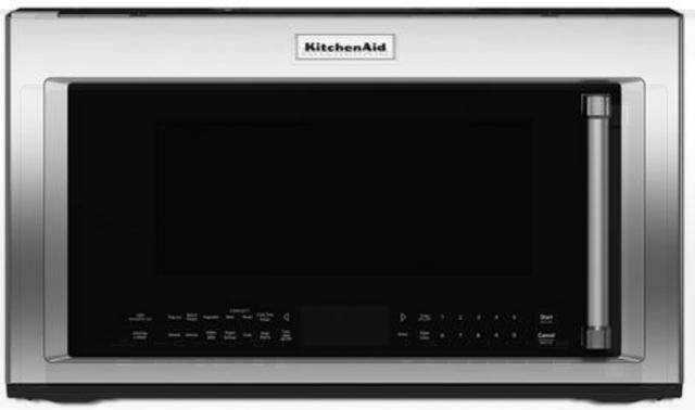 Four à micro-ondes à hotte intégrée de 30 po KitchenAid® de 1,9 pi³ - Acier inoxydable-YKMHP519ES