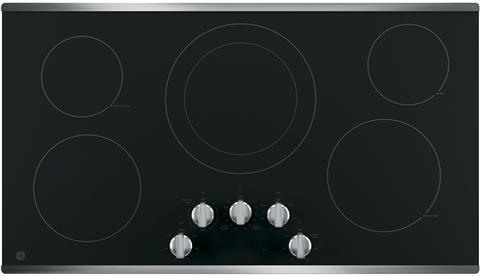 "GE® 36"" Built In Electric Cooktop-Stainless Steel-JP3036SLSS"