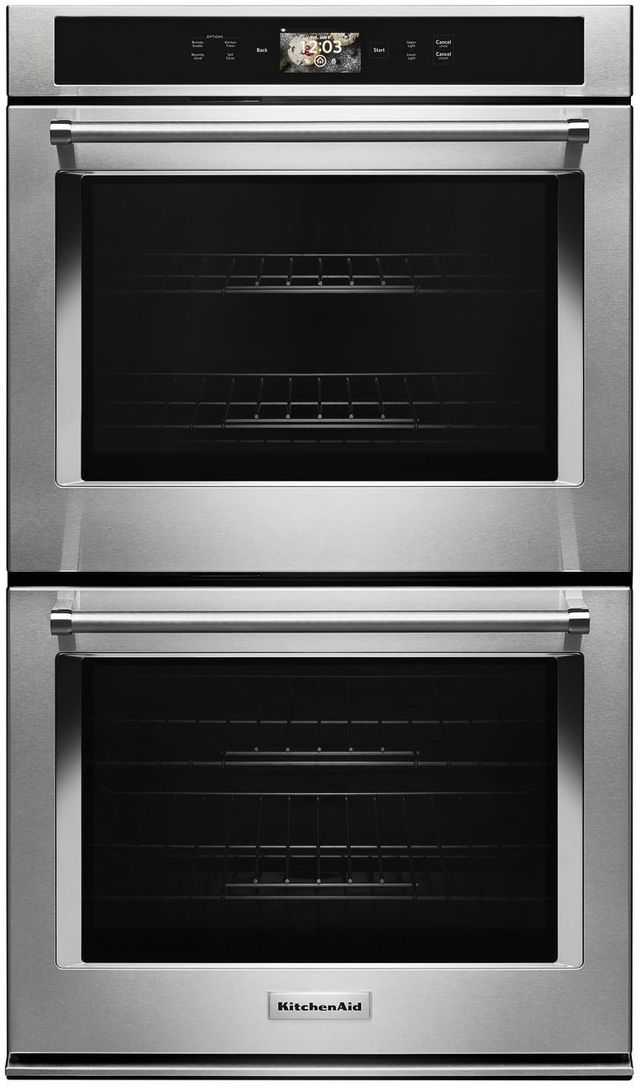 """KitchenAid® 30"""" Stainless Steel Smart Electric Double Oven Built In-KODE900HSS"""