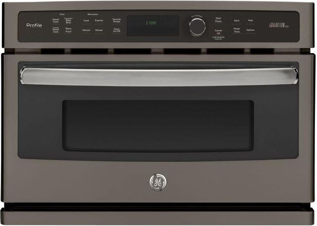 """GE Profile™ 26.75"""" Slate Electric Single Oven Built In-PSB9100EFES"""