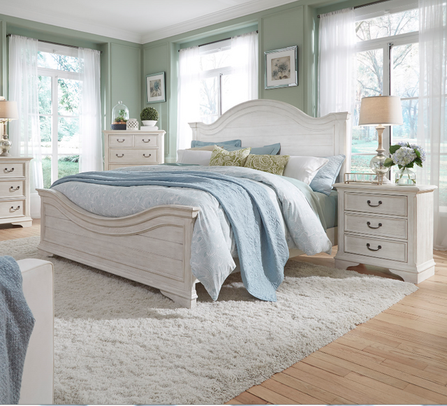 Liberty Bayside Bedroom King Panel Bed, Dresser and Mirror Collection-249-BR-KPBDM