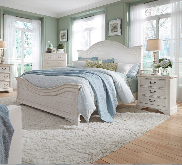 Liberty Bayside Bedroom King Panel bed, Dresser, Mirror and Night Stand Collection-249-BR-KPBDMN