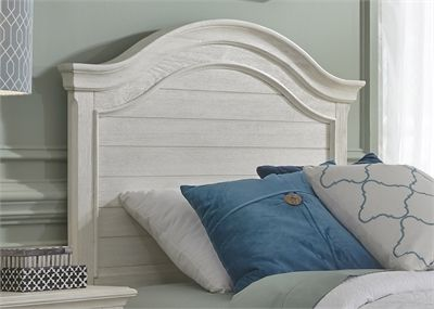 Liberty Furniture Bayside Antique White Youth Bedroom Full Panel Headboard-249-BR17