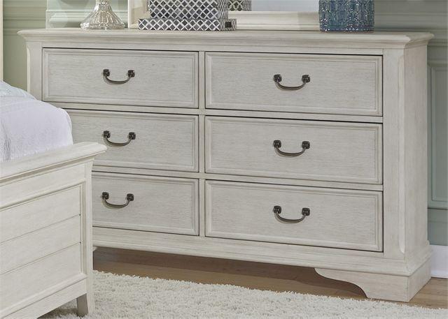 Liberty Furniture Bayside Antique White Youth Bedroom 6 Drawer Dresser-249-BR30