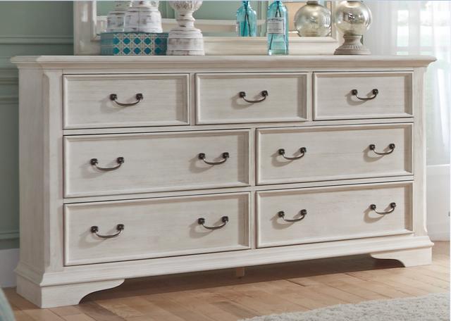 Liberty Furniture Bayside Antique White 7 Drawer Dresser-249-BR31